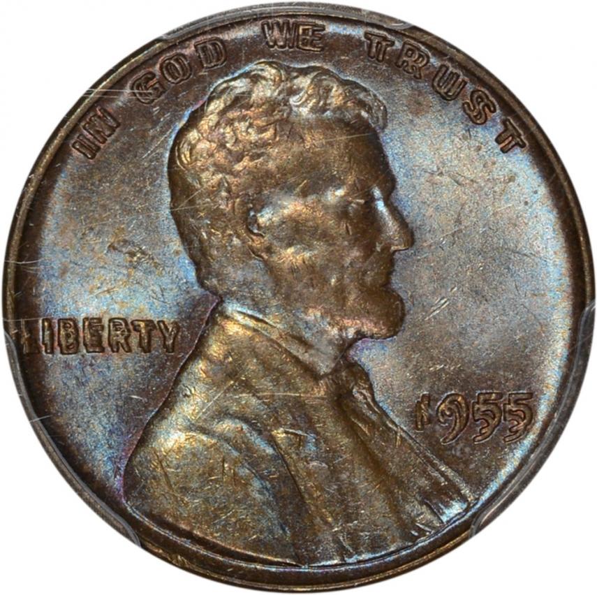 0 01 1955 55 Doubled Die Lincoln Cent 1c Au Details